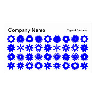 Spots - Blue on White Business Card