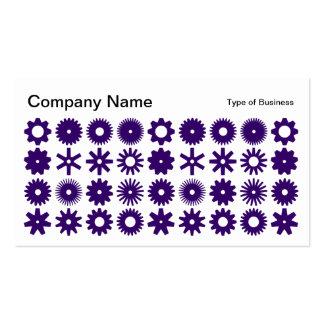 Spots - Deep Purple on White Business Card
