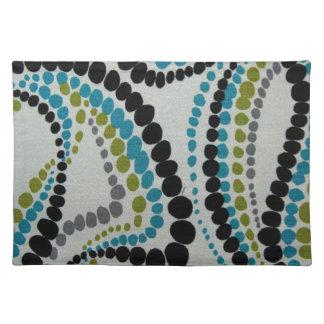Spots Fabric Texture Blue Green Pattern Designs Placemat