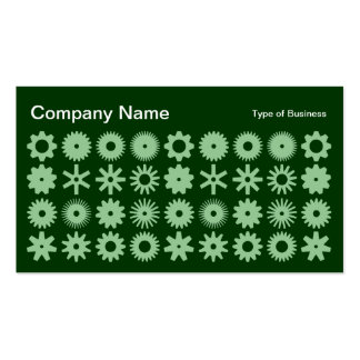 Spots - Faded Green on Dark Forest Green Business Card