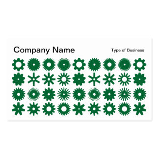 Spots - Forest Green on White Business Card