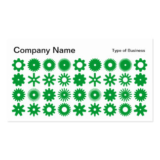 Spots - Grass Green on White Business Card