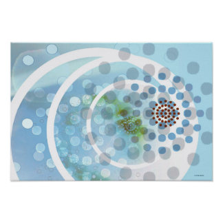 Spots in Circles Poster