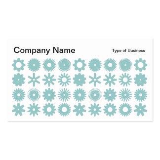 Spots - Light Blue Green on White Business Card
