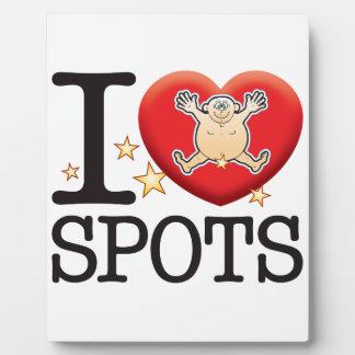 Spots Love Man Plaque