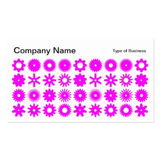 Spots - Magenta on White Business Card