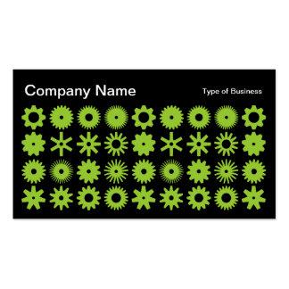 Spots - Martian Green on Black Business Card