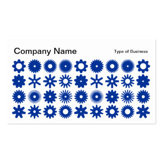 Spots - Navy on White Business Card