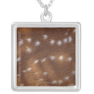 Spots on an animal silver plated necklace