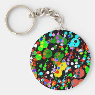 spots on black keychain