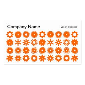 Spots - Orange on White Business Card