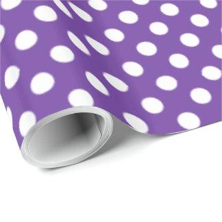 Spots Pattern Purple Heart Wrapping Paper