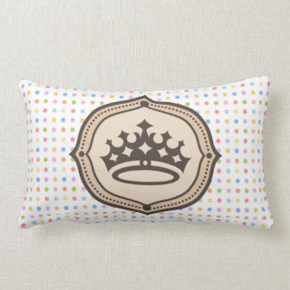 spots pie, and monograma with crown lumbar pillow