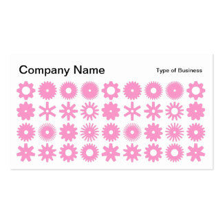 Spots - Pink on White Business Card