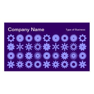 Spots - Powder Blue on Deep Purple Business Card