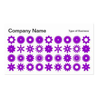 Spots - Purple on White Business Card