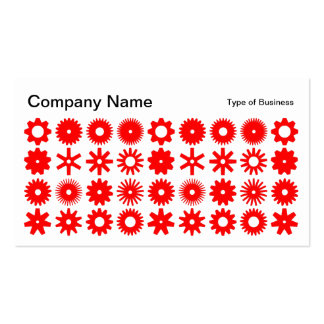 Spots - Red on White Business Card