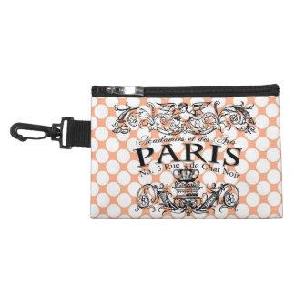 Spots, rose and vintage illustration Paris Accessory Bag