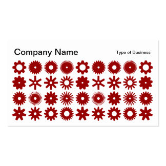 Spots - Ruby Red on White Business Card