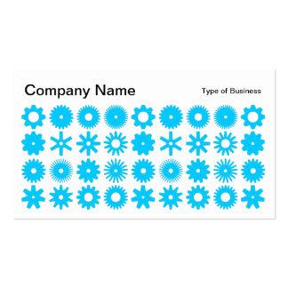 Spots - Sky Blue on White Business Card
