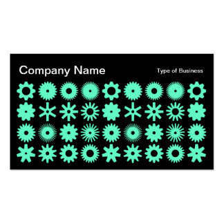 Spots - Turquoise on Black Business Card