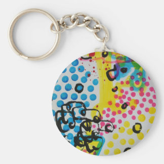 spotted abstraction by sludge key chains