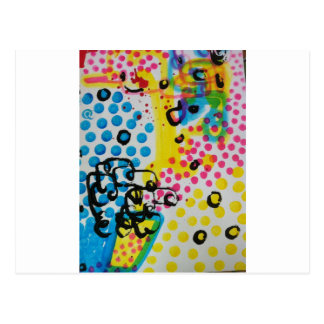 spotted abstraction by sludge postcard