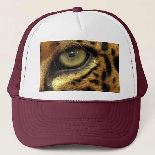 Spotted Aztec Jaguar Eye Wildlife Big Cat Hat