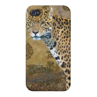 Spotted Aztec Jaguar Wildlife Big Cat Art Cases For iPhone 4