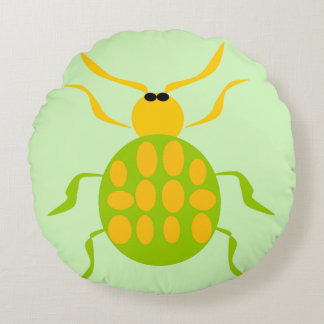 Spotted Beetle Round Pillow