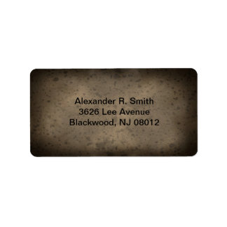 Spotted Brown Texture Address Labels