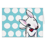Spotted Bull Terrier Greeting Card