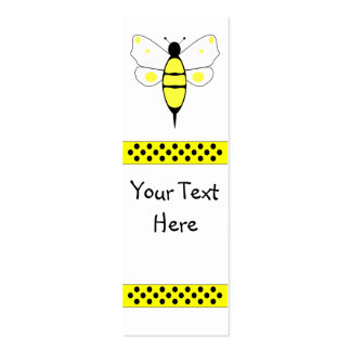 Spotted Bumble Bee Bookmark Mini Business Card