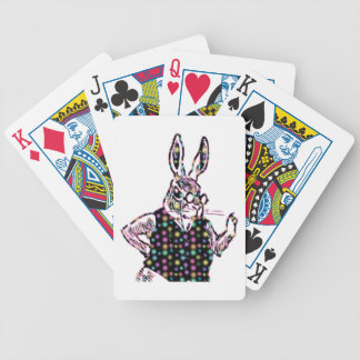 Spotted Bunny Bicycle Playing Cards