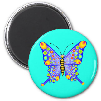 Spotted Butterfly 1 2 Inch Round Magnet