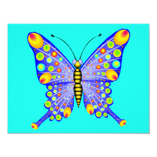 Spotted Butterfly 1 4.25x5.5 Paper Invitation Card