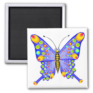 Spotted Butterfly 1 2 Inch Square Magnet