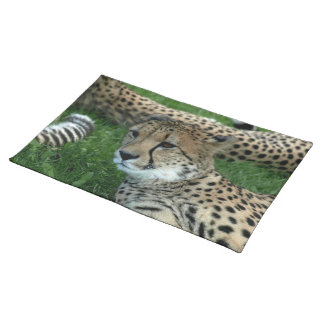 Spotted Cheetah Placemat Cloth Placemat