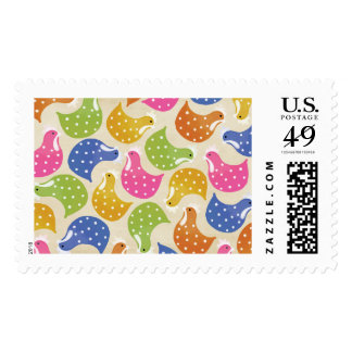 Spotted Chicken Hens Pattern US Postage Stamp