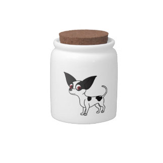 Spotted Chihuahua Candy Jar