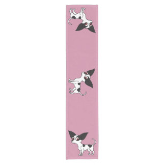 Spotted Chihuahua with Short Hair Short Table Runner