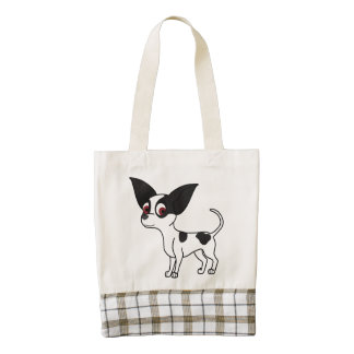 Spotted Chihuahua with Short Hair Zazzle HEART Tote Bag