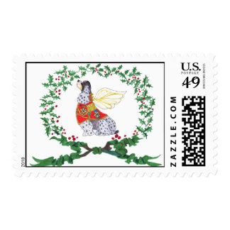 Spotted Cocker Spaniel Holiday Postage Stamp