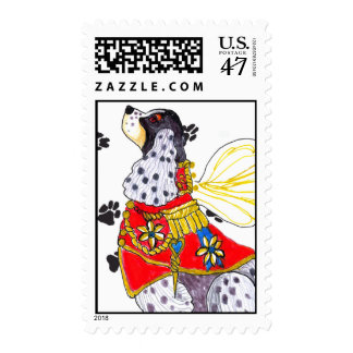 Spotted Cocker Spaniel Postage Stamp