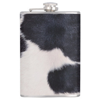 SPOTTED COW HIDE HIP FLASK
