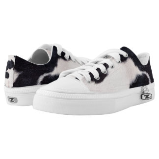 SPOTTED COW HIDE Low-Top SNEAKERS