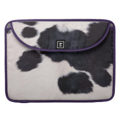 SPOTTED COW HIDE MacBook PRO SLEEVE at Zazzle