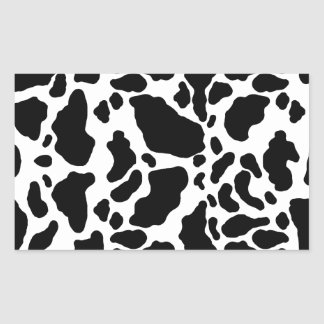 Spotted Cow Print, Cow pattern, Animal fur Rectangular Sticker