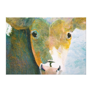 Spotted Cow Wrapped Canvas