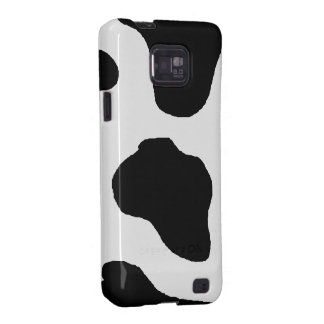 Spotted Dairy Cowprint Pattern with Your Initials Samsung Galaxy S2 Case
